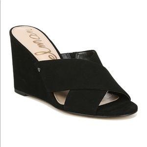 Sam Edelman Nahla Wedge Sandal Black 5.5 NWOT